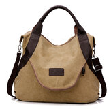 Large Pocket Casual Women Single Shoulder Cross body Handbags Canvas Bags