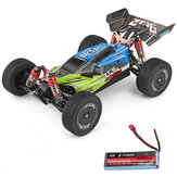 Wltoys 144001 1/14 2.4G 4WD High Speed Racing RC Car Modele pojazdów 60 km / h Ulepszony akumulator 7.4v 2600mah