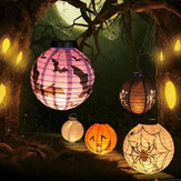 Halloween LED Lanterna di carta Zucca Spider Bat Lights Hanging lampada Props Decorazione Forniture Party