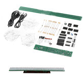 Geekcreit FED-202 DIY Audio Rhythm Light Kit Level Indicator Voice Control Audio Spectrum Electronic Production Kit