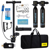 2x0.5L DEDEPU Black Scuba Diving Tank Mini Scuba Tank Air Oxygen Cylinder Underwater Diving Set With Adapter & Storage Box Diving Set equipment 11 In 1