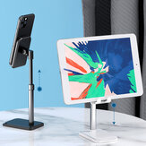 Rock Liftable Version Portable Telescopic 90° Rotation Height Adjustable Anti-slip Metal Desktop Stand Tablet Phone Holder for iPhone Xiaomi Non-original