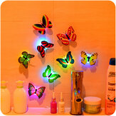 Miico Beautiful Butterfly LED Night Light lampada Con autoadesivo decorativo di Natale