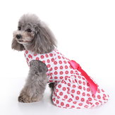 Vintage Pink Polka Dot Dog Dress for Pet Clothes Vest Shirts