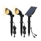 2 in 1 Solar Powered LED Light-controlled Lawn Lights Outdoor Waterproof Yard Wall Landscape Lamps