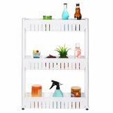 3/4 Layers Multi-function Rack Shelf Portable Cart Storage for Kitchen Bathroom Arrangement