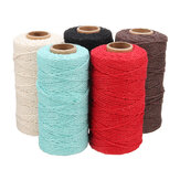 5 Colors 2mm Natural Cotton Twisted Cord Rope Macrame Linen Jute DIY Braided Wire Craft 100Yd