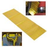 Fita de alta temperatura reflexiva autoadesiva do envoltório do protetor do calor da exaustão do ouro de 20x60cm