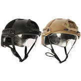 Tactische Airsoft Paintball SWAT War Game Protective Snelle Helm Met Goggle