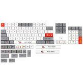 126 Chaves cinza e branco Keycap Set XDA Profile PBT Sublimation Keycaps para teclados Mecânico