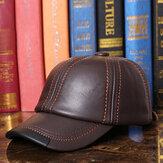 Ανδρικά Vintage Γνήσιο Δερμάτινο Εξωτερικό Καπέλο Μπέιζμπολ Αντιανεμικό Καπάκι