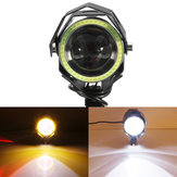 12V-80V Motorcycle LED Headlights Driving Fog Spot Light DRL Aluminum