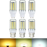 B22 GU10 6W 69 SMD 5050 LED Pure White Warm White Natural White Cover Corn Bulb AC220V