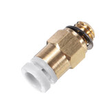 Brass Pneumatic Connector for Remote Extruder for Reprap 3D Printer M6 Thread