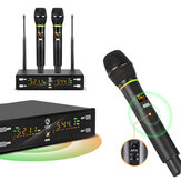 G-MARK Wireless Microphone Professional Karaoke Metal Body Frequency Adjustable 80M Distance for Stage Show Party Meetin