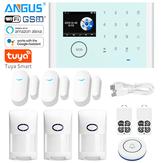 ANGUS CS118 Tuya WIFI système d'alarme de sécurité à domicile contrôle d'application Compatible avec l'alarme antivol sans fil Alexa