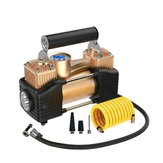 12V 100PSI Double Cylinder Potable Air Compressor Pump Car Tyre Inflator