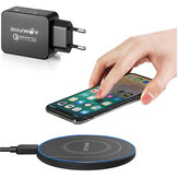 BlitzWolf® BW-FWC7 15W Wireless Charger Fast Wireless Charging Pad + BlitzWolf BW-S5 QC3.0 18W USB Charger EU Adapter for iPhone 11 Pro Max for Samsung Galaxy Note S20 ultra for Mi 10 Huawei P40