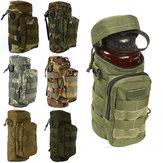 Multifunktionale wasserflasche tasche im freien taktische tasche sport wandern klettern paket wasserkocher tasche