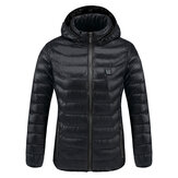 Thermostatic Heating Jacket USB Intelligent Coats Women Black S/M/L/XL