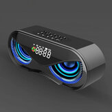 Desktop Colorful Lights Dual Speakers Digital Buttons Song bluetooth Speaker
