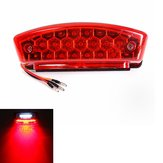 Universal 12V LED Motorcycle Tail Brake Light License Plate Lamp