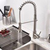 Nickelmessing moderner Mixerklapsfrühling einzelner Hebel zieht neuen Sprayküchenbadezimmerwasserhahn heraus