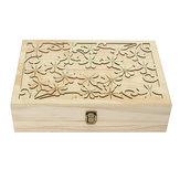 70 Slots Wooden Carved Case Container Essential Oils Box Storage