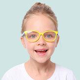 Детский анти-синий свет Очки игровой компьютер телефон анти-излучения мужчин и женщин плоский Объектив Силиконовый очки Soft оправа