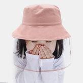 Çocuklar / Küçük Çocuklar (4-7ys) Katı Renkli Çıkarılabilir Anti-damlacık Koruyucu Kapak Kovası Şapka