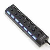 7 Port High Speed USB 2.0 Hub Power Adapter AAN / UIT voor schakelaar voor MAC PC Laptop