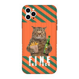 Creative Cute Gigantic Cat Pattern Protective Case Back Cover for iPhone 11 / 11 Pro / 11 Pro Max / X / XS / XR / XS Max / 7 / 8 / 7 Plus / 8 Plus