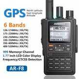 ABBREE AR-F8 GPS Walkie Talkie High Power 136-520MHz Frequency CTCSS DNS Detection LED Display