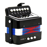 Mini Toy Accordion 7 Keys and 3 Buttons Keyboard Musical Instrument for Children Kids Gift