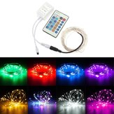 12V 5M 50LED Silver Wire Christmas String Fairy Light Remote Controller without Adapter