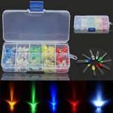 3 × 375 قطع كل صندوق 3 ملليمتر 5 ملليمتر LED ضوء البعث ديود الخرز المقاومة ضوء ثانية أطقم لمبة مصباح