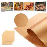 IPRee® 3-5Pcs Copper Chef Grill Bake Mats Non-Stick Picnic BBQ Roasting Glass Fiber Pad