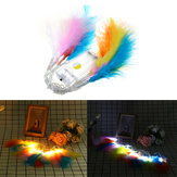 Batterij aangedreven 1.3 M 10LED Colorful Feather String Holiday Light voor Xmas Party Decor DC3V