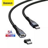 Câble de données USB-C vers USB-C magnétique Baseus 100W Zinc PD QC Cordon de transmission de données à charge rapide Ligne de 1,5 m de long pour Huawei P30 P40 Pro Mi10 OnePlus 8Pro Pour iPad Pro 2020 Air 2020 MacBook Air 2020