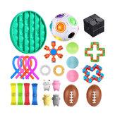 Fidget Toys Sensory Set Anti Stress Relief Fidget Bubble Toys Dekompressziós Artefaktum Kézi Játékok Gyerek Felnőtteknek