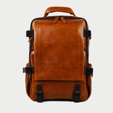 Ekphero Men Solid Casual Multifunction Laptop Flap Backpack