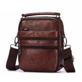 Men Luxury Genuine Leather Messenger Bag Small Brand Zipper Designer High Quality Shoulder Bag