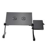 Regulowana składana podstawka na laptopa do laptopa Stolik na biurko Podkładka chłodząca USB 2 wentylatory Uchwyt na tacę sofy z podkładką pod mysz