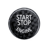 Start Stop Engine Button Car Switch Carbon Black Cover For BMW F/G Classis F01 F02 F10 G37