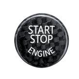 BMW F / G Classis F01 F02 F10 G37用スタートストップエンジンボタンカースイッチカーボンブラックカバー