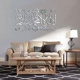 Espelho acrílico 3D adesivo de parede decoração de casa sala de estar mural decalque islâmico