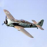 Dynam Focke Wulf FW-190 1270 mm Wingspan EPO Warbird RC Avião PNP com retração