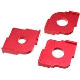 Drillpro 3-pack houten paneelradius R5-R30 Quick-Jig Router Tafelbits Jig Hoeksjabloon Houtbewerkingsgereedschap