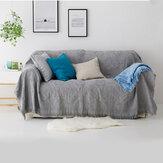 Koc na sofę Jednokolorowe kratowe koce z dzianiny z pomponem narzuta na sofę rzut koc Osłona przeciwpyłowa Meble do domowego biura Dekoracje
