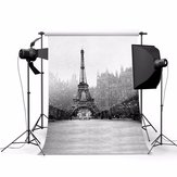 3x5ft Eiffel Tower Theme Photography Vinyl Background Backdrop for Studio 0.9x1.5m